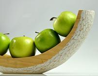 Hand Carved Fruit Bowl