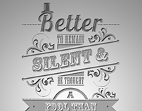 Typography Poster - Abraham Lincoln
