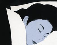White and black  The illustration for a novel