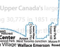Typographic Poster of Toronto
