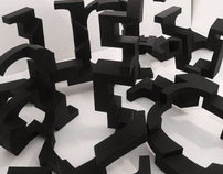 A Three Dimensional Typeface
