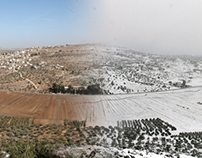 Snow on the mountains of Shomron