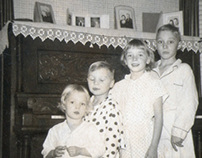 Kids in Pajamas Photo Restore