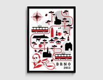 Illustrative Poster of Brno / 2013