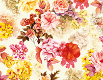 Flowers pattern for a fabric (for INCITY fashion brand)