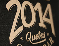 Monthly Inspirational Quotes Calendar 2014