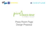 Pico de Loro Cove: Press Room Page Design Proposal