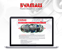 Corporate site for Moscow company BULMASH