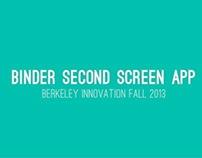 Binder - A Second-Screen Tablet Application