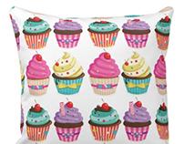 Cupcake Pattern Pillow