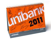 Soccer uniform calendar for Unibank