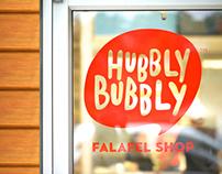 Hubbly Bubbly Falafel Shop Branding