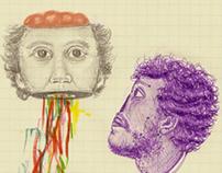 school notebook drawings