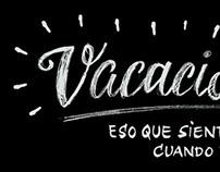 """VACACIONISMO"" Custom lettering for campaign"