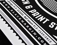 Black Margin Promotional Poster