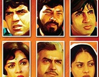 sholay 3d posters