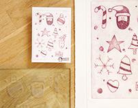 Christmas Glass Print