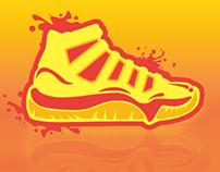 Sunrise Sneekers Design | Shoe Illustration pt. II