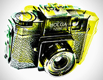"""Posters """"Andy love Holga too !"""""""