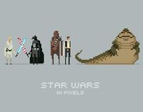 Star Wars Pixel Posters