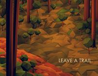 Wander/Days Postcard - Leave A Trail