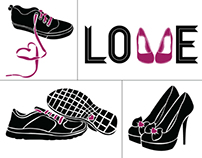 Love & Shoes Greeting Cards