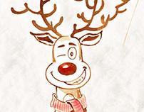 Rudolph Deer Christmas E-card