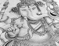 Lord Ganesh ~ Pencil Drawing