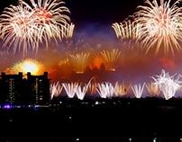 New Year Fireworks - The Palm Jumeirah, Dubai