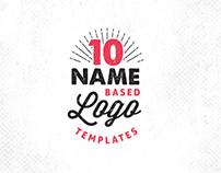 10 Name Based Logo Templates