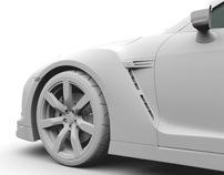 Nissan GT-R (clay renders)