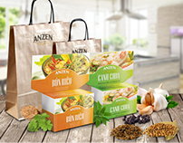 Anzen Five Spices Packages Design