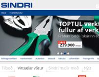 Sindri webshop