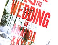 A+K Letterpress Wedding Posters