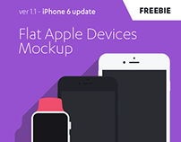 FREE Flat Apple Devices Mockup / iPhone 6 update