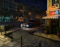 Paris - Street (3d Environment)