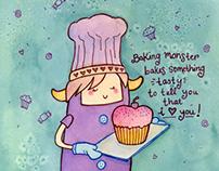 Baking Monster Bakes You A Cake