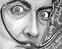 Salvador Dali on Charcoal
