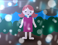Girl in the Rain: Finger Painting with Photoshop Touch