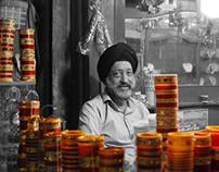 Amritsar Street Scenes in B&W w/color