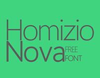 Homizio Nova - a new free font family