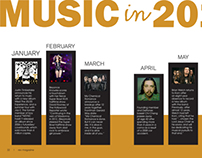 Music in 2013 - Print Concept