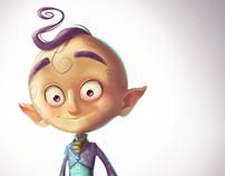 Moon Face Character Design
