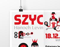 """SZYC"" Hanoch Levin Poster"