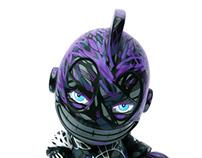 "Bad Boy II - Custom 6"" kidrobot mascot"