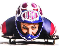 Helmet for Olympic Skeleton Racer Noelle Pikus-Pace