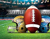 XLIX Football Game Flyer Template