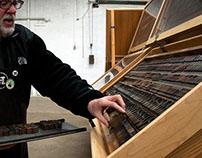 Bulletin Script - Wood Type Digitization