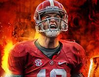 2013 Alabama Iron Bowl Poster