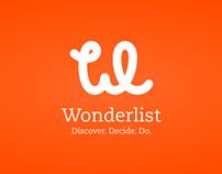 Wonderlist identity + mobile design